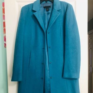 The Limited Wool Coat - Teal - Size Large